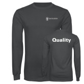 Charcoal Long Sleeve T Shirt-Quality