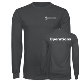 Charcoal Long Sleeve T Shirt-Operations