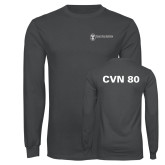 Charcoal Long Sleeve T Shirt-CVN 80 and 81