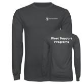 Charcoal Long Sleeve T Shirt-Fleet Support Programs