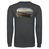 Charcoal Long Sleeve T Shirt-NNS Design 1