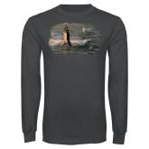 Charcoal Long Sleeve T Shirt-NNS Design 2