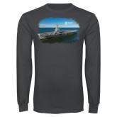 Charcoal Long Sleeve T Shirt-NNS Design 3
