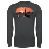 Charcoal Long Sleeve T Shirt-NNS Design 4
