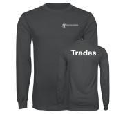 Charcoal Long Sleeve T Shirt-Trades