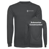 Charcoal Long Sleeve T Shirt-Submarine Construction