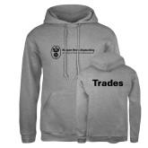 Russell DriPower Grey Fleece Hoodie-Trades