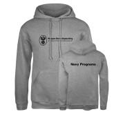 Russell DriPower Grey Fleece Hoodie-Navy Programs
