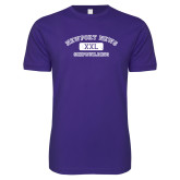 Next Level SoftStyle Purple T Shirt-NNS College Design