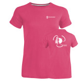 Ladies Russell Pink Essential T Shirt-NNS IT