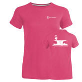 Ladies Russell Pink Essential T Shirt-Programs Division