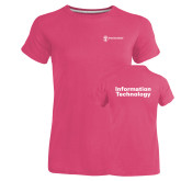Ladies Russell Pink Essential T Shirt-Information Technology