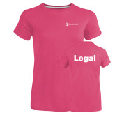 Ladies Russell Pink Essential T Shirt-Legal