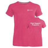 Ladies Russell Pink Essential T Shirt-Fleet Support Programs