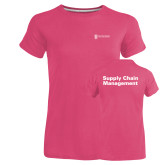 Ladies Russell Pink Essential T Shirt-Strategic Sourcing