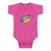 Fuchsia Infant Onesie-Future Shipbuilder Carrier Ship
