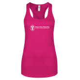 Next Level Ladies Raspberry Ideal Racerback Tank-Newport News Shipbuilding
