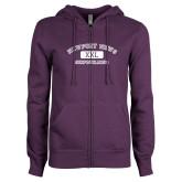 ENZA Ladies Purple Fleece Full Zip Hoodie-NNS College Design