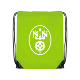Lime Green Drawstring Backpack-Icon