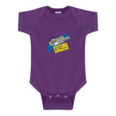 Purple Infant Onesie-Future Shipbuilder Carrier Ship