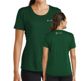 Ladies Performance Dark Green Tee-Business Management