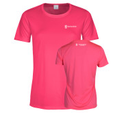 Ladies Performance Hot Pink Tee-Business Management