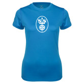 Ladies Syntrel Performance Light Blue Tee-Icon