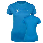 Ladies Syntrel Performance Light Blue Tee-Business Management
