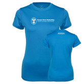 Ladies Syntrel Performance Light Blue Tee-Manufacturing and Material Distribution