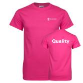 Cyber Pink T Shirt-Quality