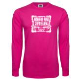 Hot Pink Long Sleeve T Shirt-NNS Vintage