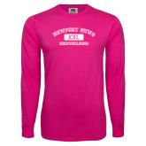 Hot Pink Long Sleeve T Shirt-NNS College Design