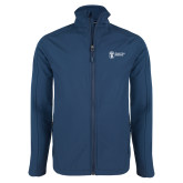 Navy Softshell Jacket-Newport News Shipbuilding