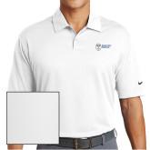 Nike Dri Fit White Pebble Texture Sport Shirt-Newport News Shipbuilding