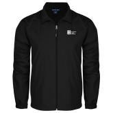 Full Zip Black Wind Jacket-Huntington Ingalls Industries