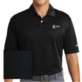 Nike Dri Fit Black Pebble Texture Sport Shirt-Newport News Shipbuilding
