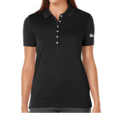 Ladies Callaway Opti Vent Black Polo-Huntington Ingalls Industries