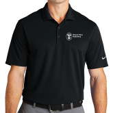 Nike Golf Dri Fit Black Micro Pique Polo-Newport News Shipbuilding