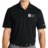 Nike Golf Dri Fit Black Micro Pique Polo-Huntington Ingalls Industries