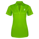 Ladies Lime Green Silk Touch Performance Polo-Icon