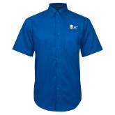 Royal Twill Button Down Short Sleeve-Huntington Ingalls Industries