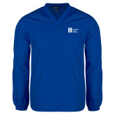 V Neck Royal Raglan Windshirt-Huntington Ingalls Industries