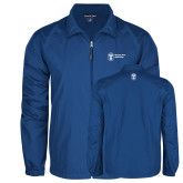 Full Zip Royal Wind Jacket-Newport News Shipbuilding