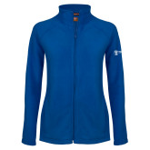 Ladies Fleece Full Zip Royal Jacket-Newport News Shipbuilding