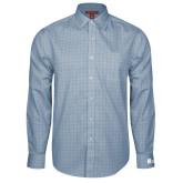Red House Light Blue Plaid Long Sleeve Shirt-Huntington Ingalls Industries