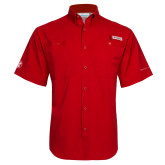 Columbia Tamiami Performance Red Short Sleeve Shirt-Icon