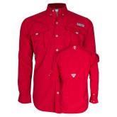Columbia Bahama II Red Long Sleeve Shirt-Icon