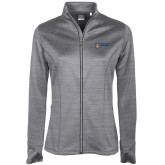 Ladies Callaway Stretch Performance Heather Grey Jacket-Newport News Shipbuilding