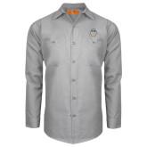 Red Kap Light Grey Long Sleeve Industrial Work Shirt-Icon