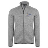 Grey Heather Fleece Jacket-Newport News Shipbuilding